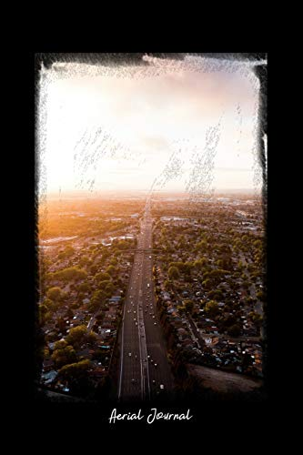 Aerial Journal: Dot Grid Journal - Aerial Commute Roads Sunset Sky Clouds Cars - black Dotted Diary, Planner, Gratitude, Writing, Travel, Goal, Bullet Notebook - 6x9 120 pages [Lingua Inglese]
