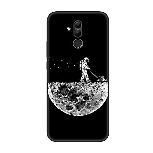 Aksuo for Huawei Mate 20 Lite Schwarz Hülle Silikon, TPU Silikonhülle Handyhülle Kratzfest Stylisch Muster Design Robust Leicht Case - Mondstaubsauger