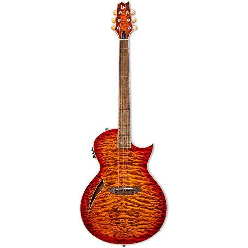ESP LTD LTL6QMTEB Thinline Guitarra eléctrica de 6 cuerdas con cuerpo de...