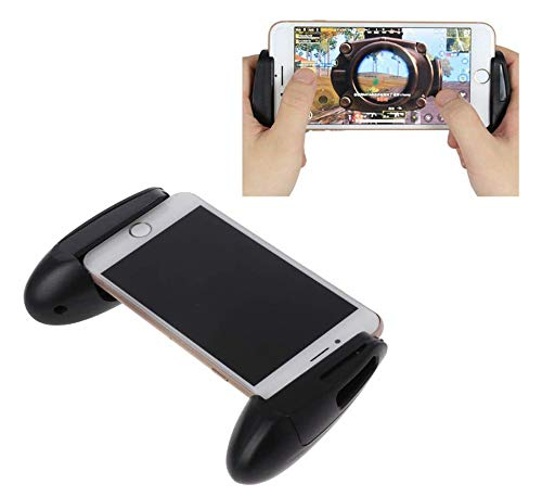 QIXIN uses PUBG mobile controller ergonomics to design gamepad mobile phone holder, suitable for PUBG length 4.5-6.5 inches smartphone