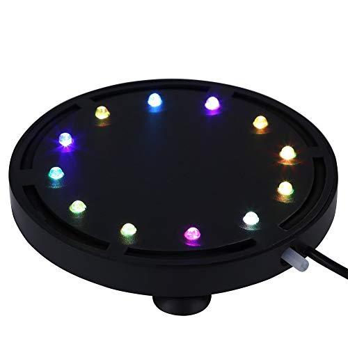 DC 12V Tauch Aquarium Licht Unterwasser LED Lichter Luft Blasen Lampe 12 Multi-bunte änderndes Licht für Fisch Behälter(12.5cm(12LED) EU)