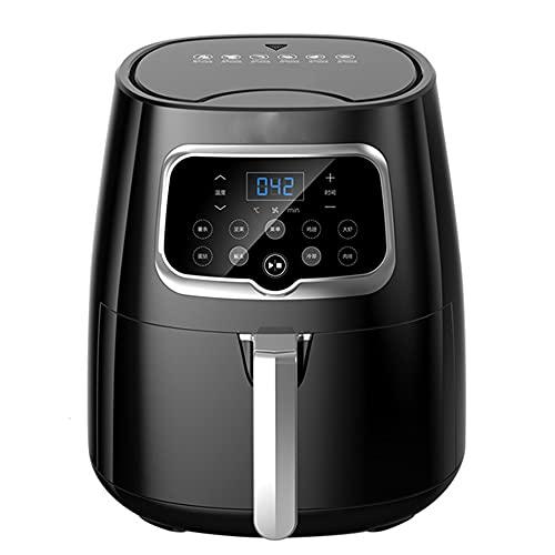 Freidora de aire 4.5QT, horno compacto de freidoras de aire caliente de 1350 W, con pantalla táctil digital, olla antiadherente, para freír, asar, hornear y asar a la parrilla