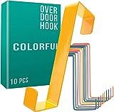 4smile colgador para puerta - juego de 10, coloridos - percheros puerta hechos en Alemania - organizador colorido para la habitación de los niños