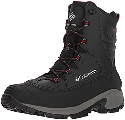 """Columbia Men Bugabootâ""""¢ Iii Wide Snow Boot, Black, Bright Red, 11 Wide US"""