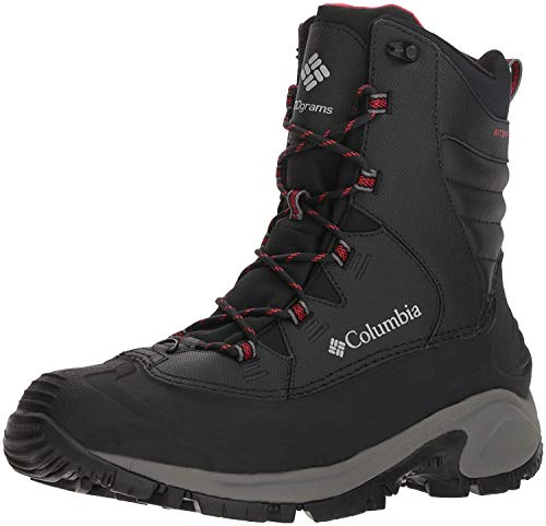 Columbia Men's Bugaboot II Snow Boot, Black/Bright Red, 9.5