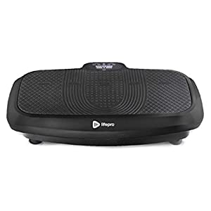 LifePro Turbo 3D Vibration Plate Exercise Machine – Dual Motor Oscillation, Pulsation + 3D Motion Vibration Platform   Full Whole Body Vibration Machine for Home Fitness & Weight Loss.