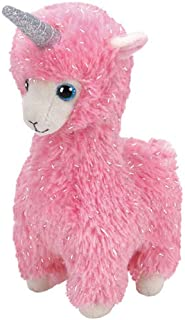 Ty - Beanie Babies - Lana Pink Llama With Horn /toys