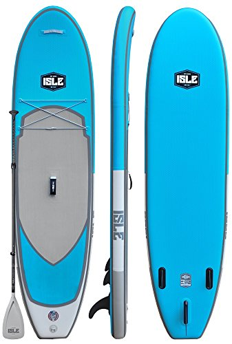 ISLE Airtech Inflatable 10'6' All Around Stand Up Paddle Board (6'...