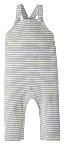 Moon and Back by Hanna Andersson Knit Infant-and-Toddler-Overalls, Grau gestreift, 12-18 Months
