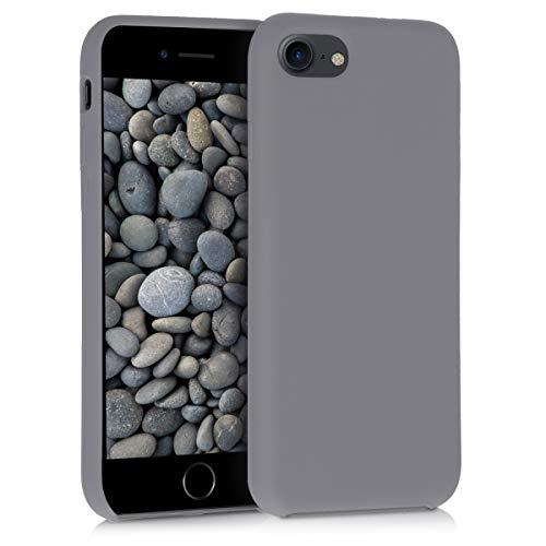 kwmobile Hülle kompatibel mit Apple iPhone 7/8 / SE (2020) - Hülle Handyhülle gummiert - Handy Hülle in Titanium Grey