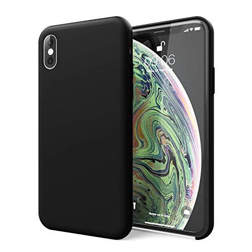 CELLONIC® Telefoon Hoesje compatibel met iPhone Xs Siliconen Etui zwart Doos Tasje
