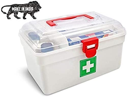 QUSSUK Home Medicine Box Home Large Capacity First Aid Kit Medical Box Family Loaded Large Emergency Medicine Storage Box