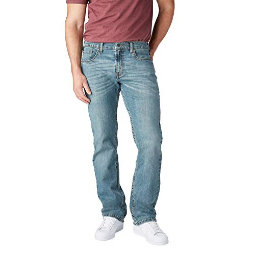 Signature by Levi Strauss & Co. Gold Label Men's Big &Tall Relaxed Fit Jeans, Titan, 48W x 30L