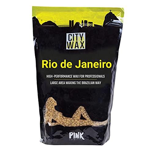 RIO CITY WAX Premium Wachs 1 kg - Brasilianisches Waxing ohne Vliesstreifen - Wachsperlen zur professionellen Haarentfernung ab 3 mm - Wax Beans - Pearl Wax - Wachsbohnen - Brazilian Wax