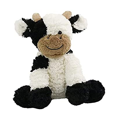 HooYiiok Cow Stuffed Animals Cute Adorable Soft Plush Cow Toy Great Birthday Gift for Kids 9 inches by HooYiiok