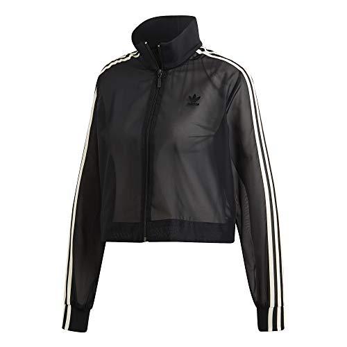adidas Originals dames Cropped See-Through Sheer trainingspak Top Track Jacket