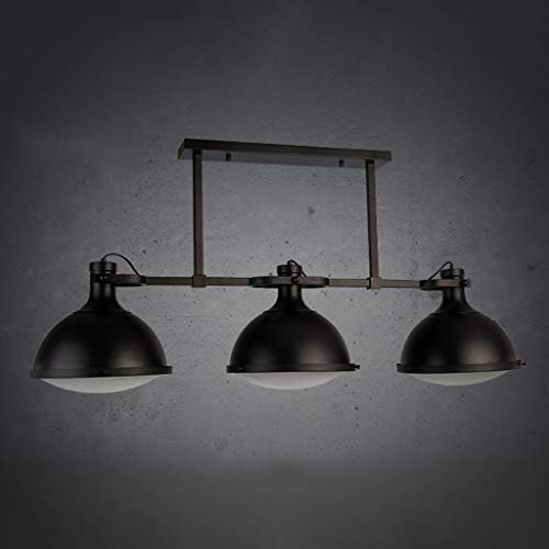GZLL Pendelleuchte, Loft Industrieller Kronleuchter, Billiardtisch Kronleuchter Beleuchtung, for Restaurant, Bar, Tresen, Retro, 125 * 20 * 54 cm