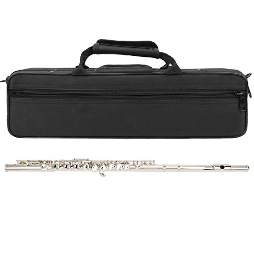Ejercicio de entrenamiento ligero de flauta clave cerrada para estudiantes de flautista(Silver)