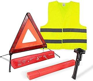 MYSBIKER Safety Triangle Warning Kit,Car Roadside Emergency Kit with Reflective Warning Triangle,Visibility Roadside Vest,...