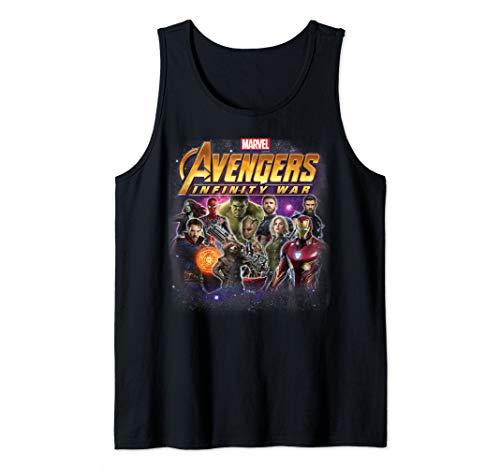 Marvel Avengers: Infinity War Avengers Group Shot Fade Out Tank Top