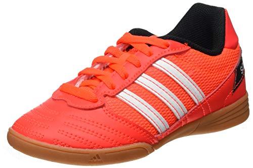 Adidas Super Sala J, Zapatillas Deportivas Fútbol Unisex Infantil niños, Rouge Solaire Blanc Noir, 30 EU