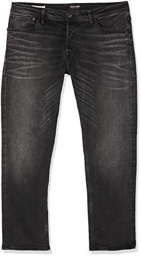 JACK & JONES Herren Slim Jeans, Schwarz (Black Denim), W33/L32 (Herstellergröße: 33)