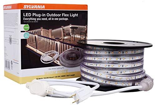 LEDVANCE, 3000K 75624 Plug-in Outdoor Flex LED Strip Light Kit, 32ft 8in, 32.8ft Warm White