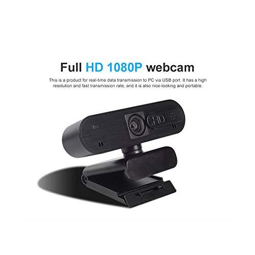 STHfficial Cámara para Computadora 1080P HD Cámara Web USB Cámaras Web Micrófonos Direccionales Incorporados 1920 * 1080 Cámara para Computadora Cámara Web USB