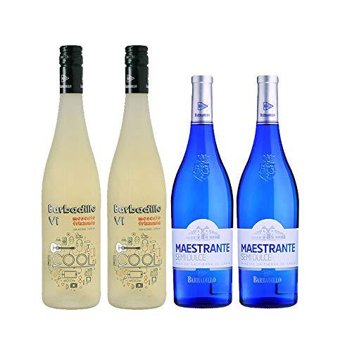 Vinos blancos Barbadillo VI Cool y Maestrante - D.O. Tierras de Cadiz - Mezclanza Barbadillo (Pack de 4 botellas)