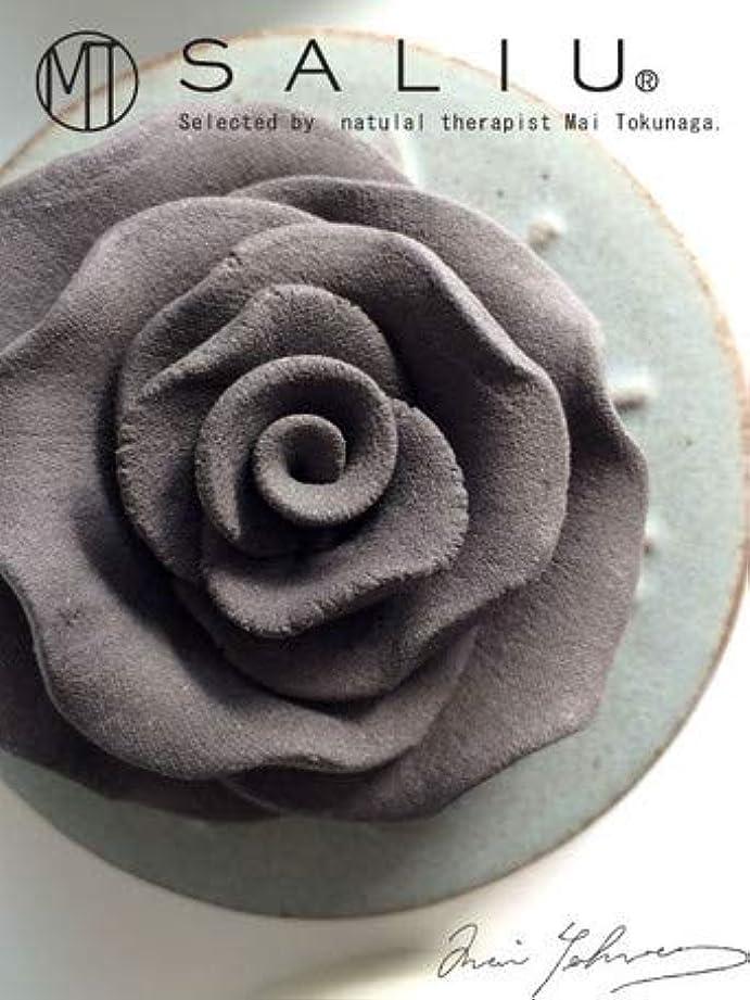 ウェイドランク薄汚いLOLO ロロ SALIU ローズセットh 灰 グレー ローズ?トレイ:陶器 フレグランスオイル内容量5ml