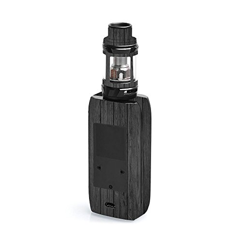MightySkins Skin Compatible with Vaporesso Revenger X - Black Wood | Protective, Durable, and Unique Vinyl Decal wrap Cover | Easy to Apply, Remove, and Change Styles | Made in The USA