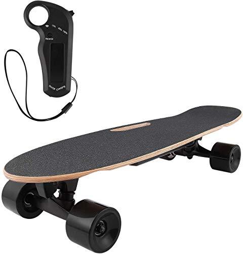 Profun Skateboard Electrique Planche à roulettes Longboard avec Télécommande et Système de Démarrage de...
