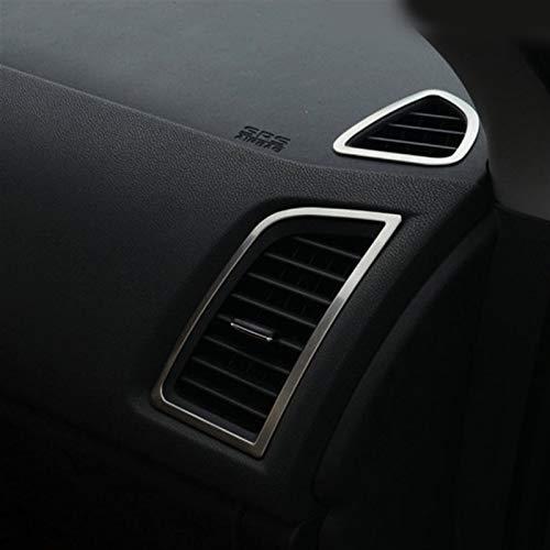 XUNGED Ajuste for Mitsubishi ASX 2018 2011-2014 2016 Accesorios del Coche de Acero Inoxidable de automóviles Aire Acondicionado Cubierta del Enchufe Estilismo de Coche (Color Name : Silver)