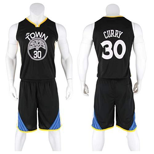 Conjunto De Camiseta De Baloncesto Para Adultos Para Hombre, Golden State Warriors # 30 Stephen Curry, Camiseta Sin Mangas Y Pantalones Cortos De Ropa Deportiva Retro Swingman Para NiñOs(3xs-5xl)
