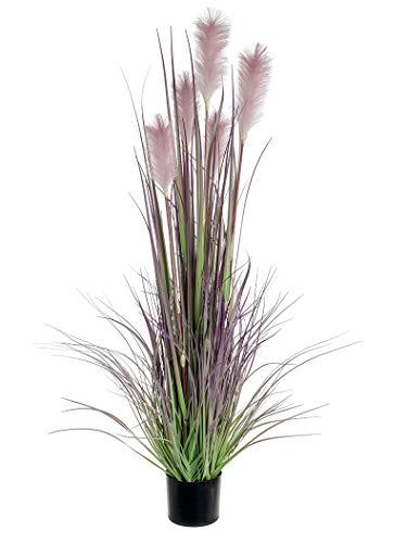 Rote Heißpflanzen, künstliches Schilfrohr, 1,5 m hoch, mauve, 1.5m (5ft)