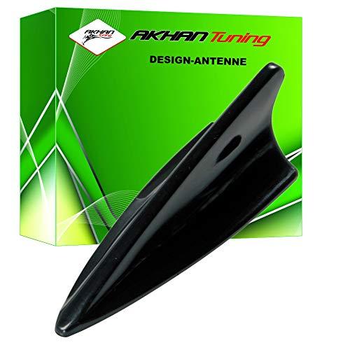 ANTB518 - SHARK ANTENA Antena Aleta de tiburón en forma de coche decorativo Antena DUMMY antena de techo NEGRO