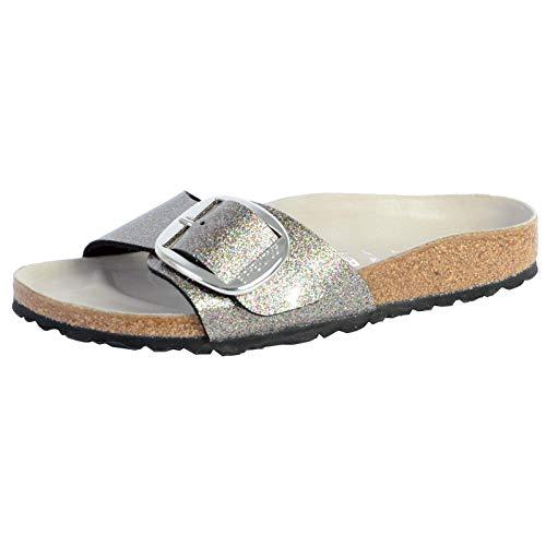 Birkenstock Damen Mules Madrid Big Buckle Birko-Flor Glitter Multicolor Hex Mud Sandale, 38 EU
