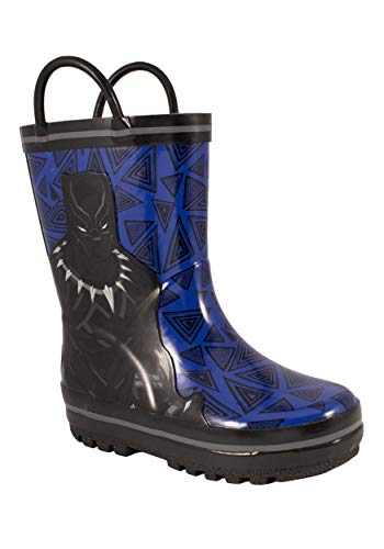 Favorite Characters Black Panther Children's Rainboots, 10 M US Toddler/LittleKid Blue&Black