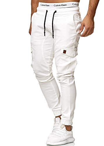 OneRedox Herren Chino Pants | Jeans | Skinny Fit | Modell 3301 Weiss 29