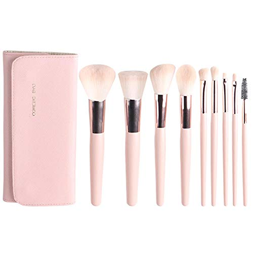 MPKHNM The new explosion beauty makeup kit is a generation of wooden handle loose powder brush