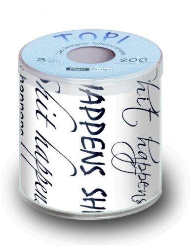 Toiletpapier grappig bedrukt met design ShIT HappENS