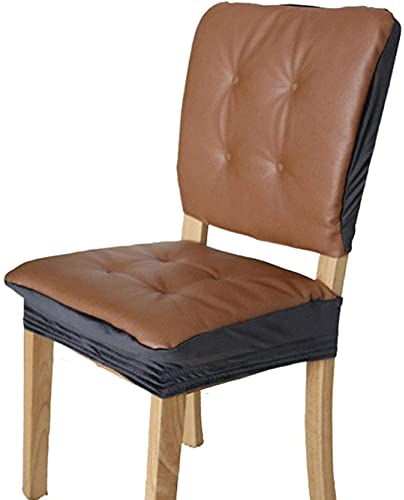 JYHJ Cojín para silla de comedor, esquinas redondeadas, cojín cuadrado de oficina, resistente, 48 x 48 cm (color: marrón, tamaño: 48 x 48 cm)
