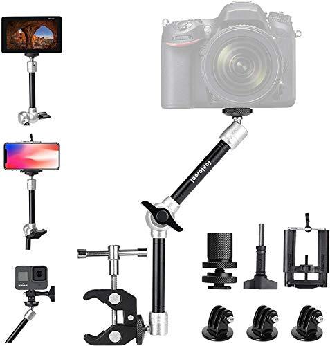 """11\'\' Magic Arm Auto Kfz Kopfstützen Kamera Handy Halterung einstellbarer Gelenkarm Stabilisator Klemmhalterung Clip 1/4\"""" Schraube für Sony Nikon GoPro Monitor Smartphone Camcorder Video/DSLR/Kamera"""