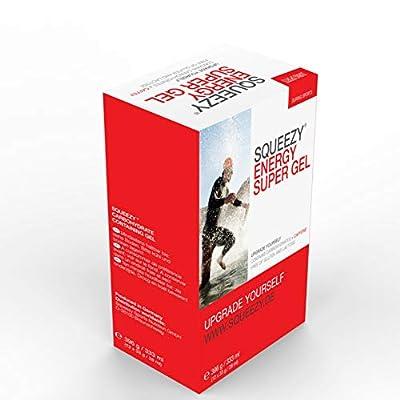 Squeezy Sports Nutrition Energy Super Gel Box 12 Beutel 33 g Zitrone & Koffein, 1er Pack (1 x 396 g)