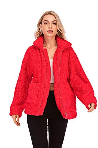Red Fleece Coat