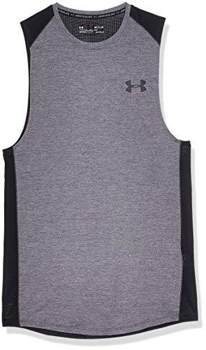 Under Armour Men's MK1 Sleeveless T-Shirt , Charcoal Light Heath (019)/Stealth Gray , Charcoal Light Heath (019)/Stealth Gray
