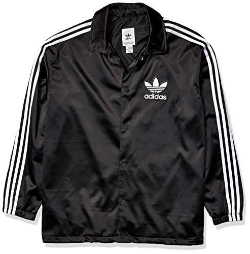 adidasOriginalsメンズサテンコーチジャケットUSサイズ:Mediumカラー:ブラック