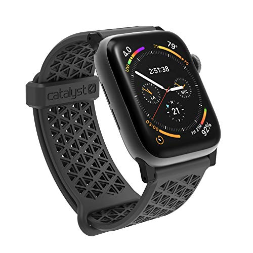 Catalyst Sport Band per Apple Watch Series SE, Series 6, Series 5/4 44m-, Serie 3,2,1 42mm, Ipoallergenico,Sgancio rapido, Sport Band Designed for Apple Watch, with Connectors - Grigio