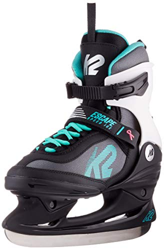 K2 Skates Damen Schlittschuhe Escape Speed Ice W — black - grey - turquoise — EU: 38 (UK: 5 / US: 7.5) — 25C0120