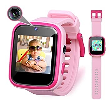 Vakzovy Kids Smart Watch Girls Gifts for 3-10 Year Old Girls Dual Camera Touchscreen Smart Watch for Kids with Music Player Educational Toys Toddles Birthday Gift for Girls Ages 6 7 8